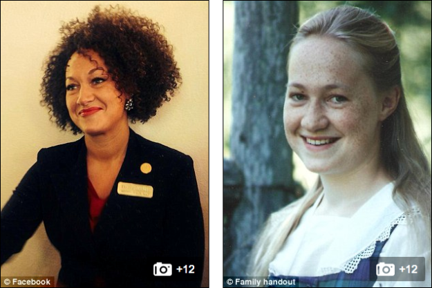 An NAACP leader's parents have made a startling revelation: their daughter, for years a highly visible civil rights activist in Eastern Washington, is white. Rachel Dolezal, Spokane's NAACP Chapter President and part-time Africana Studies professor at Eastern Washington University, has been misleading people about her ethnicity for years, her parents say. Her mother even offered photographic proof. While today the 37-year-old divorcee currently sports tight, dark curls, her mom Ruthanne Dolezal showed KREM photos of the fair and freckled blonde daughter she once knew. Dolezal is now facing a city ethics probe after she identified herself as black in an application to serve on a local police ombudsman commission - a position she secured. 'It's very sad that Rachel has not just been herself,' Ruthanne Dolezal told the Spokesman-Review. 'Her effectiveness in the causes of the African-American community would have been so much more viable, and she would have been more effective if she had just been honest with everybody.' Mrs Dolezal remains in Northwest Montana, where Dolezal grew up. It is not clear why she has now shared the revelations but Dolezal has previously said that she no longer has any contact with her parents. In articles in the Easterner, she claimed they were violent towards her. According to her mother, Ruthanne began to 'disguise herself' in 2006 or 2007. Other than some 'faint traces' of Native American blood, Ruthanne said the family background is Czech, Swedish and German. However, that's not how her daughter identified herself when she became chairwoman of Spokane's Office of Police Ombudsman Commission.  In her application for the volunteer appointment, Dolezal marked herself down as white, black and American Indian, reports the Spokesman-Review. She has also previously claimed that her white father is her step-father. In January, a photo showing Dolezal and a black man on the Spokane NAACP's Facebook erroneously identified the man as her father. On Wednesday, a reporter from KXLY confronted Dolezal a photo of her with the African-American man while on camera.  'Ma'am, I was wondering if your dad really is an African-American man,' the KXLY reporter asked.  Rachel Dolezal, 37, has been a vocal member of the civil rights community in Idaho and Eastern Washington for years She also teaches Africana Studies at Eastern Washington University But her estranged mother has now revealed that her daughter is white and began to 'disguise herself' in 2006 or 2007 She is facing a city ethics investigation after identifying herself as black in an application to serve on a local police ombudsman commission She said she was white, black and American Indian and secured the role - but her mother says the family is Czech, Swedish and German KXLY asked her if she was African American and, looking stunned, she responded: 'I don't understand the question'