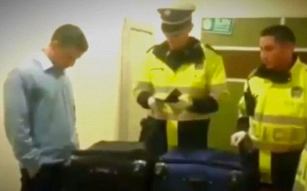 "A Colombian drug smuggler has been arrested at Bogota's main airport after 40 kilos of cocaine were found in his suitcase. The man, from the town of Santa Rosa de Cabal, 200 miles west of the capital, had not even attempted to disguise the $2 million cargo. When police opened his suitcase they found nothing but dozens of bricks of the drug, wrapped in black plastic. Police grew suspicious when the man was queuing up for his flight to Mexico. He had a recently-received passport, was nervous, and was unable to say how much his ticket cost or why he was travelling. ""One theory is that his job was just to get the suitcase into the airport, and then someone within the airport would be in charge of taking it and putting it inside the plane – without passing through controls,"" said Colonel Diego Rosero, chief of security at El Dorado airport. He told Spanish newspaper El Mundo: ""In Mexico, at the other end, they would have the same system."" But Col Rosero said that the man is thought to be a lowly ""mule"", given that he had no previous criminal record. ""He's a naive young guy who fell into the trap of the gangs,"" he said. ""I'm sure that they promised him an easy mission, without any risk, and the man trusted them."" He will now face a minimum prison sentence of 15 years."
