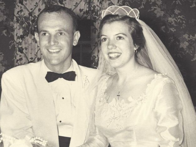 """A couple who celebrated their 60th wedding anniversary last week have revealed one secret to keeping their marriage from getting stale: eating cake that is very, very much so. Ann and Ken Fredericks of Satellite Beach, Florida, celebrate their anniversary by eating a bite from their wedding cake every year -- the remains of which they're now keeping covered in plastic wrap inside a metal coffee can, Florida Today reports. But they don't store it inside a refrigerator or freezer. The cake's actually sitting inside a closet at room temperature. Ann Fredericks, 81, said their children are """"appalled"""" they're still eating the decades-old dessert, but said the dark fruit cake will keep indefinitely. They pour brandy over the cake to moisten it before digging in, and usually break open a bottle of champagne to go with it, she said. """"Believe me, it's quite tasty, as long as it's got enough brandy on it. And it's never made us sick,"""" she told Florida Today. She did tell ABC News that """"it's a little dry."""" The two are surprised by the amount of media attention they've received over the cake. """"""""We just never thought of this as being unusual,"""" Ann Fredericks told ABC. A representative from Ask Karen, a food safety chat service sponsored by the U.S. Department of Health and Human Services, expressed some skepticism over the cake's safety. """"We wouldn't recommend practically any food that old,"""" the spokesperson told The Huffington Post. A 60-year-old cake would likely remain safe to eat if it's kept in the freezer at or near zero degrees Fahrenheit, but probably wouldn't taste great, the Ask Karen rep noted."""