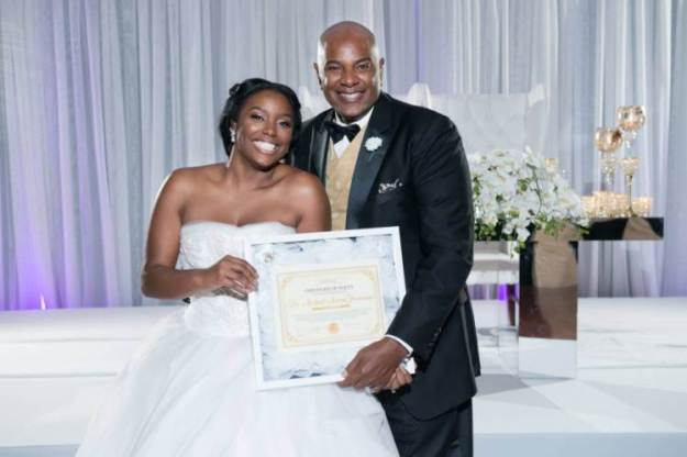A bride has proved to her father that her 'hymen is intact' with a certificate of purity. Brelyn Bowman presented the document, signed by her gynaecologist, to her father Michael on her wedding day to prove that she is a virgin. She married long-time boyfriend Timothy in front of 3,500 people. She wrote on instagram: 'I was able to present a certificate of purity to [my dad] signed by my doctor that my hymen was still intact.' 'If one person has made a decision to wait until marriage or decide to stop & wait we have done our job,' she wrote on another photo. 'Let's make Jesus famous!' The certificate says: 'On the 10th of May 2006, I, Brelyn Freeman, made a vow to glorify God in my body and spirit which are God's because I have been bought with a price (Jesus). 'I have kept this commitment and present this certificate to my father Dr Michael A. Freeman to show how I have honored God and my earthly father in my body by maintaining my purity and that my hymen is intact on this 10th day of October 2015.'