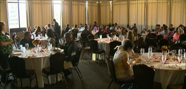 "A jilted bride put her wedding feast to good use by feeding Sacramento's homeless, according to a local report. A salmon and tri-tip smorgasbord coordinated by Quinn Duane and her unidentified would-be husband would have fed 120 of the bride's friends and family Saturday afternoon, but the pricy $35,000 wedding was scrapped at the last minute when the groom got cold feet just five days before the reception. The new guests, including a slew of less fortunate families with children from local shelters, took advantage of the Duane family's kindness, matriarch Kari Duane told KCRA-TV. ""When I found out on Monday that the wedding would not be taking place, it just seemed, like, of course this would be something that we would do to give back,"" Duane told the TV station. The reception was catered by the posh restaurant at the Citizen Hotel, where on Saturday underserved Sacramento residents snaked around tables while in line for the buffet. Erika Craycraft, her husband Rashad Abdullah and their five children, were among those filling their stomachs. ""I think it's really generous to lose out on something so important to yourself and then give it to someone else is really giving,"" Craycraft told the TV station. The bride stayed home instead of attending Saturday's dinner, but will be getting a vacation out of her situation. Before tackling mounting bills tied to the wedding, mother and daughter will take off to Belize with the non-refundable honeymoon tickets and reservations."