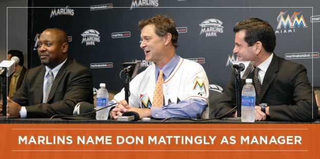 MIAMI (AP) -- The Miami Marlins have scheduled a news conference for Monday, where they're expected to introduce new manager Dan Mattingly. The press conference can be seen on FOX Sports Florida at 10 a.m. Miami hired Mattingly last week less than a week after he parted with the Los Angeles Dodgers. He becomes the Marlins' 10th manager -- including Jack McKeon for two stints -- since Jeffrey Loria bought the team in 2002. With the Marlins, Mattingly will face a big adjustment regarding resources. The Dodgers led the majors by far this year with a payroll of $289.6 million at the end of the regular season. Miami ranked last at $64.9 million, and little change is expected next season.
