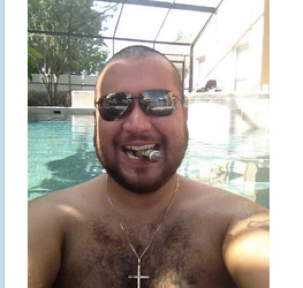 "George Zimmerman, the Florida man who shot black teenager Trayvon Martin to death in 2012 and was subsequently acquitted of all criminal charges, had his Twitter account suspended on Thursday after he used it to post semi-nude photographs of a woman he identified as his ex-girlfriend. The photos appeared on Zimmerman's account along with her name, phone number, and e-mail address. He accused the woman of cheating on him with a ""dirty Muslim."" His tweets violated Twitter's policy against posting personal contact information or intimate photos without consent, so his account was shut down in short order. A law criminalizing ""revenge porn"" went into effect in Florida this October, but a law professor told the Washington Post that Zimmerman's tweets probably did not violate the law, which requires that the images depict nudity or sexual conduct according to a strict definition that would seem to exclude the semi-nude photos he posted. Indeed, he may have researched the law in order to ensure that his tweets did not violate it. However, Zimmerman could also potentially be charged under several other state and federal laws against cyberharassment and stalking, and the woman in question might also have grounds to sue him. Since being found not guilty in the Trayvon Martin shooting, Zimmerman has been taken into police custody multiple times over allegations of domestic violence. In September 2013, his then-wife Shellie called 911 to say that he had punched her father in the nose and threatened her with a gun; that November, he was charged with aggravated assault, battery domestic violence, and criminal mischief after threatening his girlfriend with a shotgun, shoving her, and breaking her belongings; and this past January, he was arrested yet again for throwing a wine bottle at another girlfriend. In all three cases, the women either declined to press charges against Zimmerman or later asked that they be dropped. Florida is one of 26 states with laws against revenge porn, which has come under increasing scrutiny in recent years. Hunter Moore, the founder of the infamous revenge-porn site IsAnyoneUp.com, was recently sentenced to two-and-a-half years in prison, his lawyer told The Guardian on Thursday."