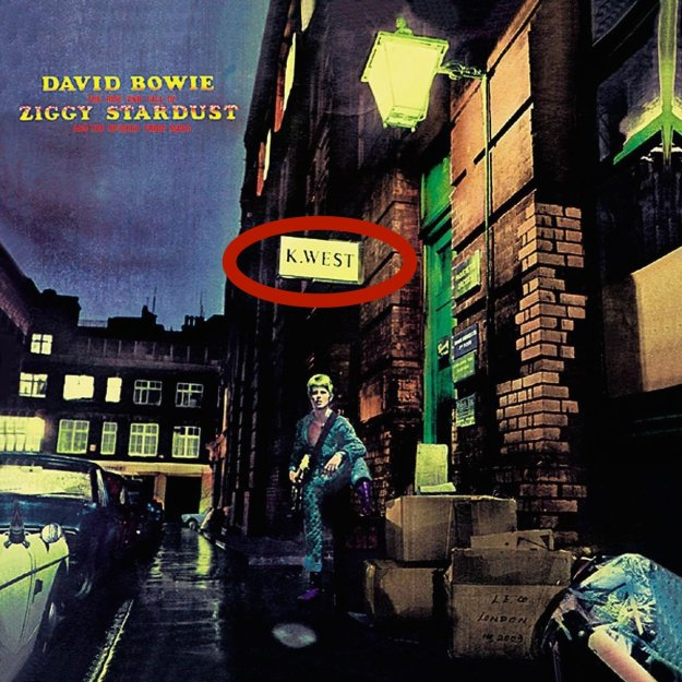 "David Bowie's 5th album 'The Rise and Fall of Ziggy Stardust' was released June 6th, 1972. The album cover has David posing in front of a store called ""K. West"". https://upload.wikimedia.org/wikipedia/en/0/01/ZiggyStardust.jpg The first track on this album is called ""Five Years"" Five years from June 1972 is June 1977 June 8th 1977 Kanye West is born. David Bowie's final album ""Blackstar"" (Kanye is literally a black star) on the first track titled 'Blackstar' he says: Something happened on the day he died Spirit rose a metre and stepped aside Somebody else took his place, and bravely cried (I'm a blackstar, I'm a blackstar) ​How many times does an angel fall? How many people lie instead of talking tall? He trod on sacred ground, he cried loud into the crowd (I'm a blackstar, I'm a blackstar, I'm not a gangster) https://youtu.be/kszLwBaC4Sw?t=4m40s The third track is titled 'Lazarus' The third track on Kanye's most recent album 'yeezus' is called ""I am God"". Bowie's Lazarus shows a bed-bound Bowie playing a man struggling to overcome illness. - Lazarus is the biblical narrative found in chapter 11 of the Gospel of John. Lazarus, a follower in Jesus becomes ill and dies and is placed in a tomb. Jesus comes to the tomb, and has them roll the stone away from the entrance and says a prayer. He then calls Lazarus to come out and Lazarus does so, still wrapped in his grave-cloths. Third track on Bowie's latest album - Lazarus Third track on Kanye's latest album - I am god Three days before Bowie's death Kanye Co-Writes & Co-Produces a track called ""Reaper"" released on January 7, January 10th, three days later Bowie Dies. Kanye is here to replace Bowie."
