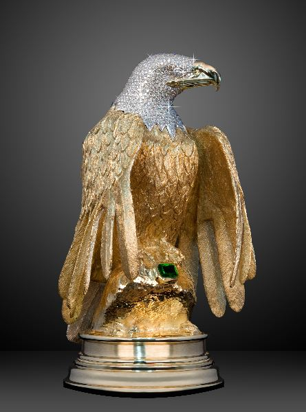 "NEWSER) – An 18-pound, solid-gold eagle statue adorned with 763 diamonds and a massive emerald recovered from a 17th-century shipwreck has been stolen—but it wasn't exactly a Mission: Impossible-esque heist. Owner Ron Shore says he had the ""Maltese Eagle,"" apparently worth somewhere between $5 million and $9 million, near Vancouver, BC, on Sunday. A man tells CTV that Shore bragged that the valuable piece—which had just been on display at an art exhibit—was in his backpack while attending a church concert. Witnesses later saw two men beat Shore on the street before grabbing his backpack. Shore then tried to hang on to the assailants' vehicle, reports the National Post. ""I struggled as hard as I could and yet wasn't able to prevent the robbery,"" Shore tells CBC News, adding a security guard was present. He was treated at a hospital and released. Police are saying little about the incident other than they are trying to ""establish exactly what happened"" and get descriptions of the assailants. Shore says he mortgaged his house to commission the statue years ago after his sister-in-law died of breast cancer days after giving birth. ""I thought the bulk of my life had been selfish and I had not given back to the community enough,"" he tells CNN. He wrote a book with clues to a real-life treasure hunt—the eagle was one reward—and hoped to raise $100 million for breast cancer charities, but book sales were poor. Recently, he had hoped to sell the statue and use the proceeds to fund a charity concert. But ""without the eagle, I don't have anything,"" he says. ""I'd hate to think it'd be melted down,"" the sculptor adds. ""That's my fear."""