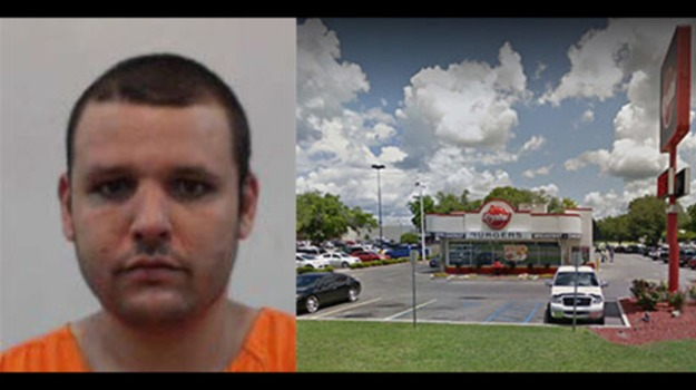 "LAKE CITY, Fla. - Lake City Police said a Krystal employee turned violent on Tuesday after learning he would be written up for showing up to work late. Police said 29-year-old Russell Francis Gomez threw frozen hamburger patties at his boss, then started knocking over equipment and poured cooking oil on the floor when the manager tried to go to the office.Employees got customers out of the store safely while Gomez ""flipped the circuit breakers, overturned trash cans, and damaged electronic equipment,"" according to a release from the Lake City Police Department.Gomez got into his car and tried to leave, but two customers blocked him from leaving, because he was ""saying he was going to return and making threats toward the manager,"" the release detailed. Gomez confronted one of the customers and spat in their face. The two customers ""grabbed and restrained Gomez"" until police arrived, according to the release. When police arrived, Gomez was bleeding from the mouth. Gomez was told to sit while police obtained statements from witnesses. He then tried to leave on foot, but was able to be apprehended by officers safely. Gomez was booked into the Columbia County Jail and faces three counts of aggravated battery, as well as assault, criminal mischief and resisting an officer without violence. He also faces a charge of driving while license suspended/revoked, as deputies found that he is a habitual traffic offender."