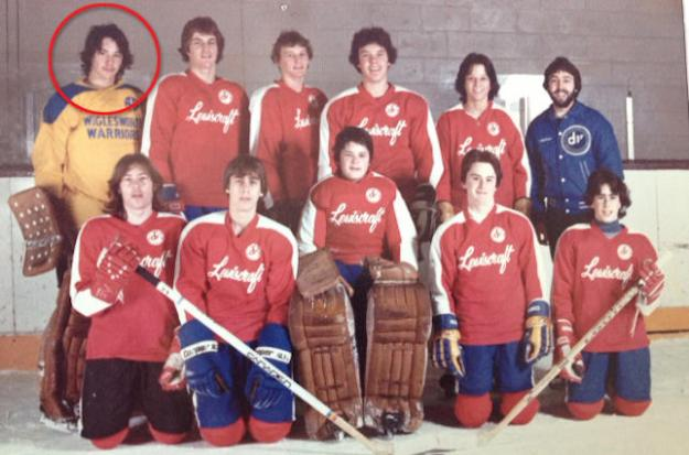 Keanu Reeves, goalie coach, circa 1981. Author: The Hockey News